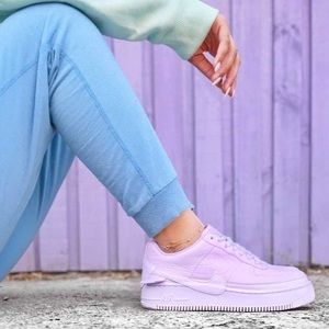 on sale ee8f7 6e399 Nike Air Force 1 Violet Mist Jester XX Sneakers NWT